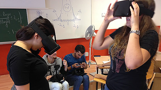 estudiantes realidad virtual