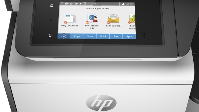 HP PageWide pantalla